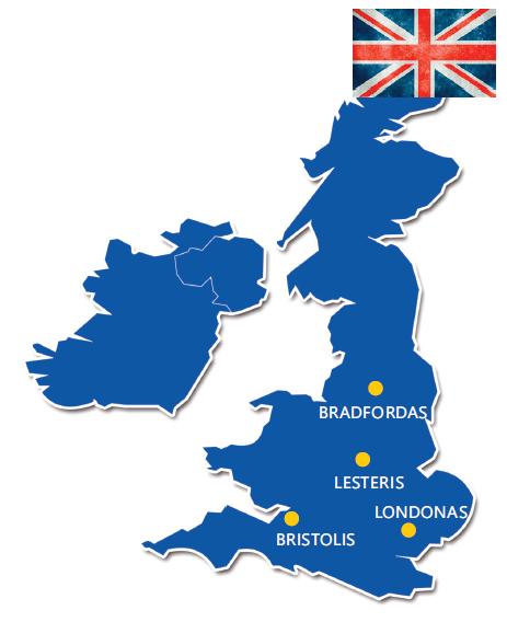 Krovinių pervežimas JK, anglijos kryptimi